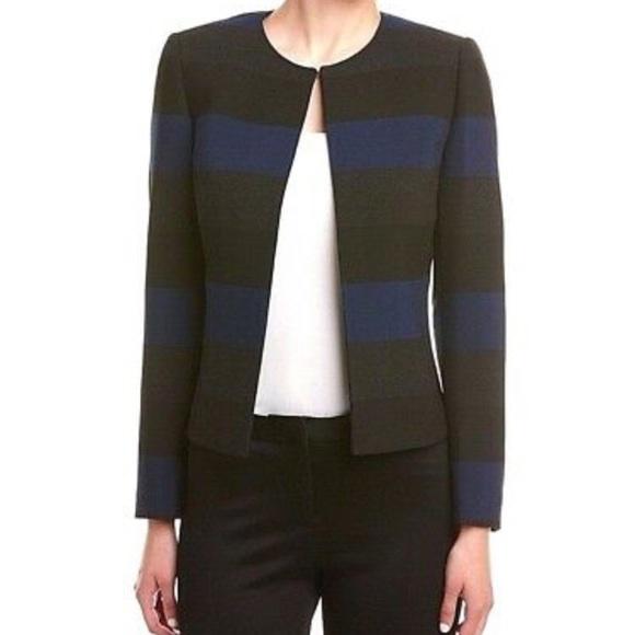 Tahari Jackets & Blazers - Tahari ASL Blue Black Grey Striped Blazer Sz 6